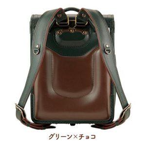 萬勇鞄 ファルベ牛革(グリーン×チョコ)